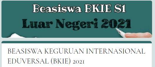 Beasiswa BKIE 2021